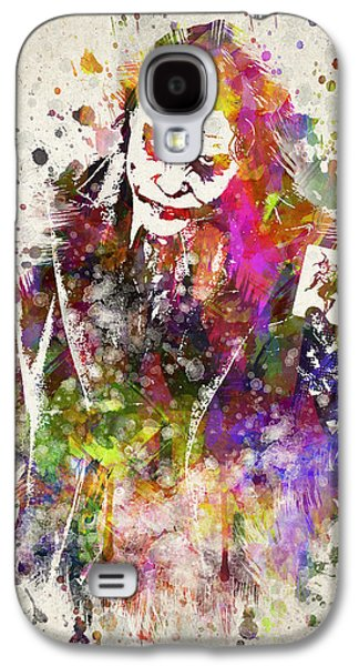 Dark Digital Art Galaxy S4 Cases - The Joker Galaxy S4 Case by Aged Pixel