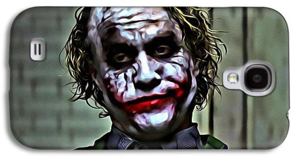 Joker Dark Knight Heath Ledger Movie Actor Galaxy S4 Cases - The Joker Galaxy S4 Case by Florian Rodarte
