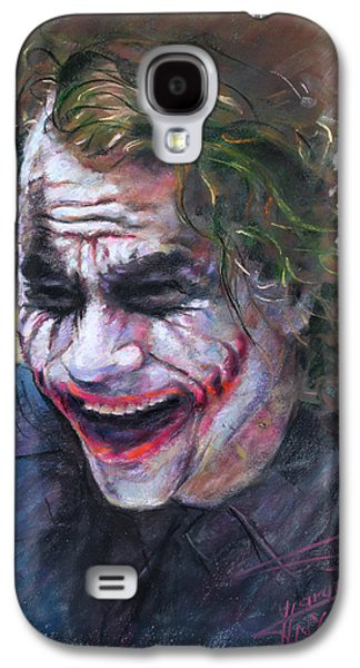 The New York New York Galaxy S4 Cases - The Joker Heath Ledger  sm Galaxy S4 Case by Ylli Haruni