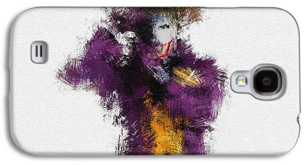 Character Portraits Galaxy S4 Cases - The Joker Galaxy S4 Case by Miranda Sether