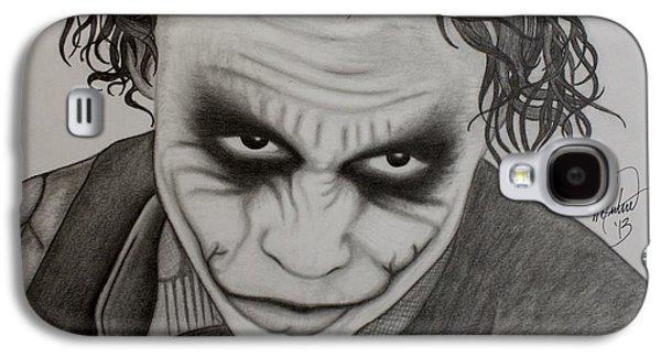 Joker Dark Knight Heath Ledger Movie Actor Galaxy S4 Cases - The Joker Galaxy S4 Case by Scott McIntire