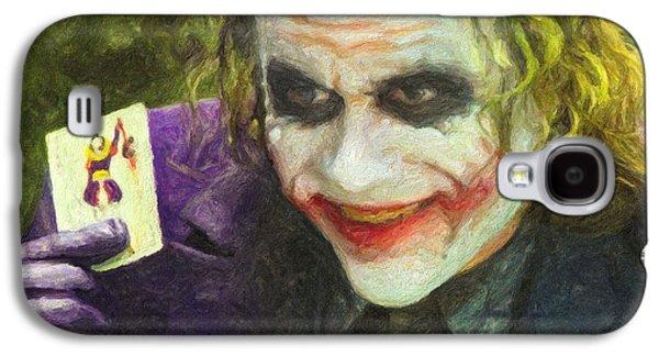 Joker Dark Knight Heath Ledger Movie Actor Galaxy S4 Cases - The Joker Galaxy S4 Case by Taylan Soyturk