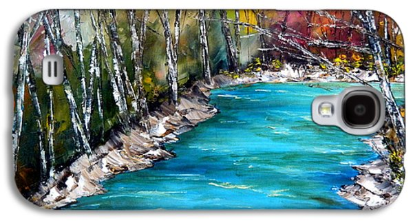 River Jordan Paintings Galaxy S4 Cases - The Jordan River Galaxy S4 Case by Linda Boss