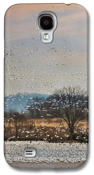 Geese Digital Art Galaxy S4 Cases - The Journey Begins Galaxy S4 Case by Lori Deiter