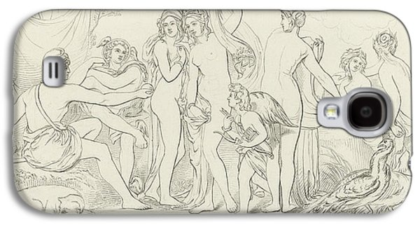 Cupid Galaxy S4 Cases - The Judgement of Paris Galaxy S4 Case by William Etty