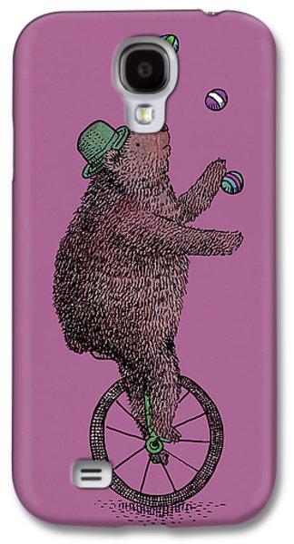 Purple Drawings Galaxy S4 Cases - The Juggler Galaxy S4 Case by Eric Fan