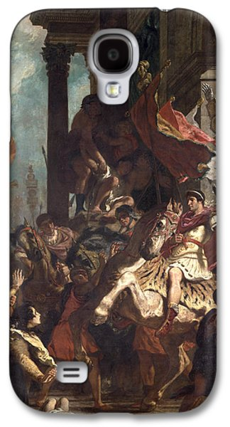 Roman Galaxy S4 Cases - The Justice Of Trajan 53-117 1840 Oil On Canvas Galaxy S4 Case by Ferdinand Victor Eugene Delacroix