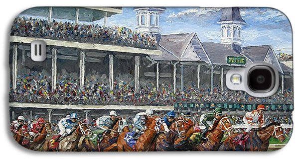 Race Galaxy S4 Cases - The Kentucky Derby - Churchill Downs Galaxy S4 Case by Mike Rabe