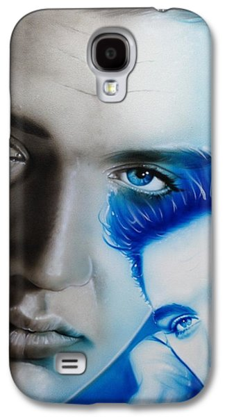 Elvis Presley Galaxy S4 Cases - The King Galaxy S4 Case by Christian Chapman Art