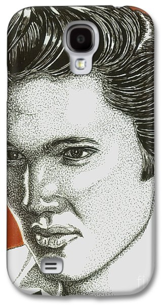Music Drawings Galaxy S4 Cases - The King Galaxy S4 Case by Cory Still