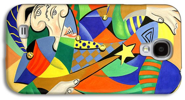Jester Digital Art Galaxy S4 Cases - The Kings Jester Galaxy S4 Case by Anthony Falbo