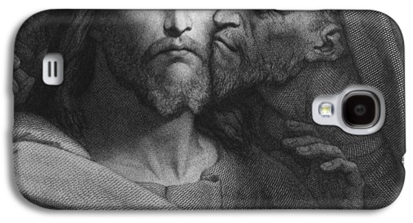 Saviour Drawings Galaxy S4 Cases - The Kiss of Judas Galaxy S4 Case by Ary Scheffer