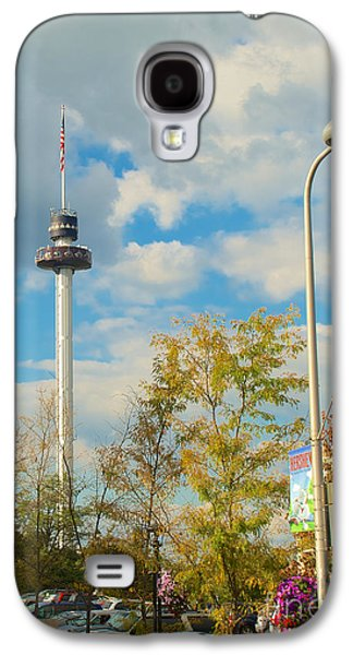 Mhs Galaxy S4 Cases - The Kissing Tower and Observation Booth and Hersheys Kiss Street Light Galaxy S4 Case by Mark Dodd