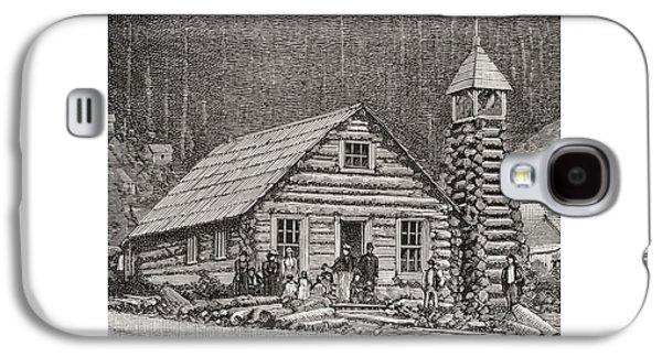Worship Drawings Galaxy S4 Cases - The Klondike Presbyterian Church At Juneau, Alaska Galaxy S4 Case by American School