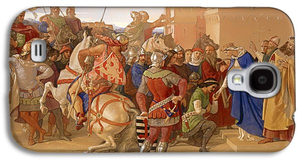 Knights Castle Paintings Galaxy S4 Cases - The Knights of the Round Table about to Depart in Search of the Holy Grail Galaxy S4 Case by William Dyce
