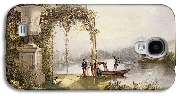 Garden Art Galaxy S4 Cases - The Lake  Trentham Hall Gardens Galaxy S4 Case by E Adveno Brooke