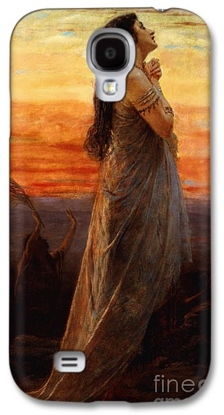 Sadness Paintings Galaxy S4 Cases - The Lament of Jephthahs Daughter Galaxy S4 Case by George Elgar Hicks