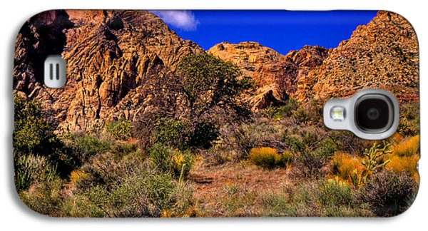 Fault Galaxy S4 Cases - The Landscape of Red Rock Canyon Nevada Galaxy S4 Case by David Patterson