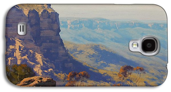 Sisters Paintings Galaxy S4 Cases - The Landslide Katoomba Galaxy S4 Case by Graham Gercken