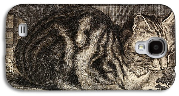 Drawing Galaxy S4 Cases - The Large Cat  Galaxy S4 Case by Cornelis de Visscher
