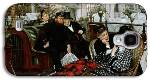 Rocking Chairs Galaxy S4 Cases - The Last Evening, 1873 Oil On Canvas Galaxy S4 Case by James Jacques Joseph Tissot