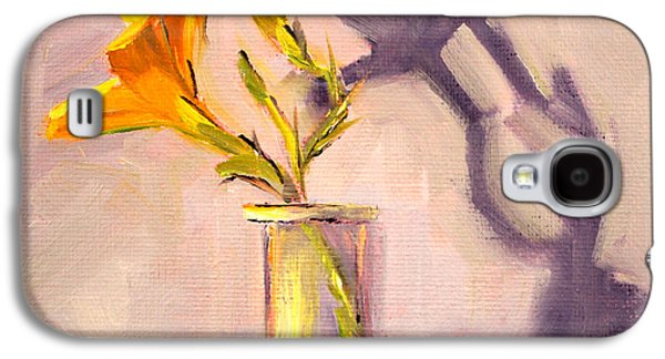 """""""indoor"""" Still Life Paintings Galaxy S4 Cases - The Last Lily Galaxy S4 Case by Nancy Merkle"""