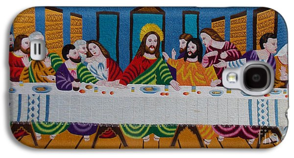 Religious Tapestries - Textiles Galaxy S4 Cases - The Last Supper hand embroidery Galaxy S4 Case by To-Tam Gerwe