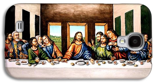 The Followers Paintings Galaxy S4 Cases - The Last Supper Galaxy S4 Case by Todd Spaur
