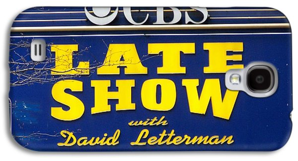 The Late Show With David Letterman Galaxy S4 Case by Kenneth Summers