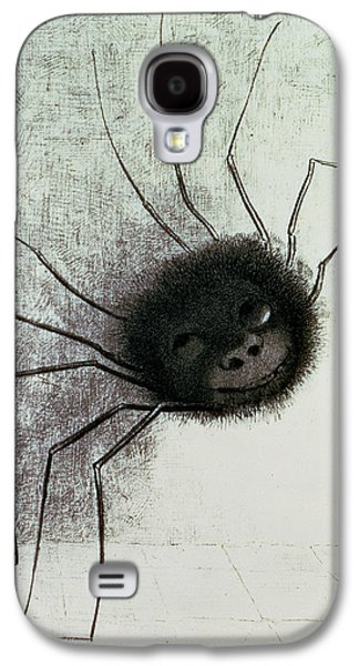 Creepy Drawings Galaxy S4 Cases - The Laughing Spider Galaxy S4 Case by Odilon Redon