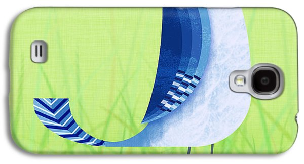 Square Format Galaxy S4 Cases - The Letter Blue J Galaxy S4 Case by Valerie   Drake Lesiak