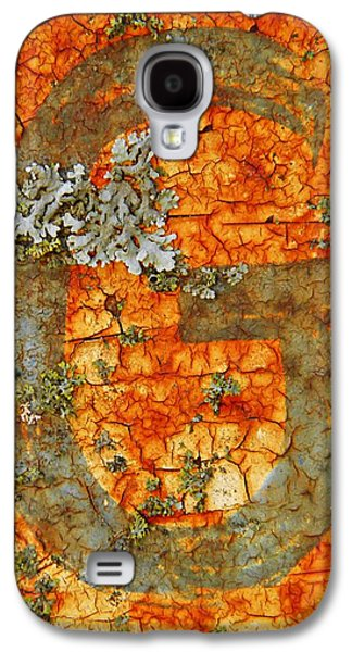 Photosynthetic Galaxy S4 Cases - The Letter G with Lichens Galaxy S4 Case by Chris Berry