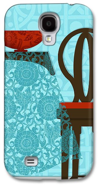 Interior Scene Mixed Media Galaxy S4 Cases - The letter T Galaxy S4 Case by Valerie   Drake Lesiak