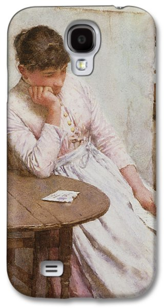 Depression Paintings Galaxy S4 Cases - The Letter  Galaxy S4 Case by Walter Langley
