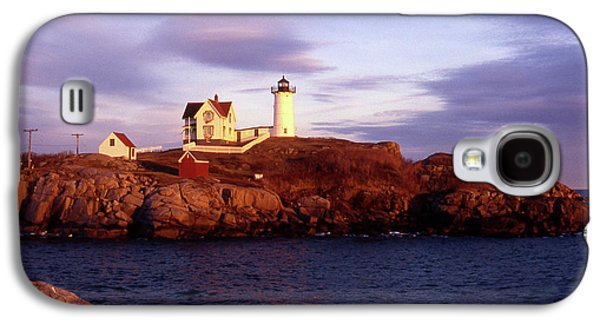 Nubble Lighthouse Galaxy S4 Cases - The Light on the Nubble Galaxy S4 Case by Skip Willits