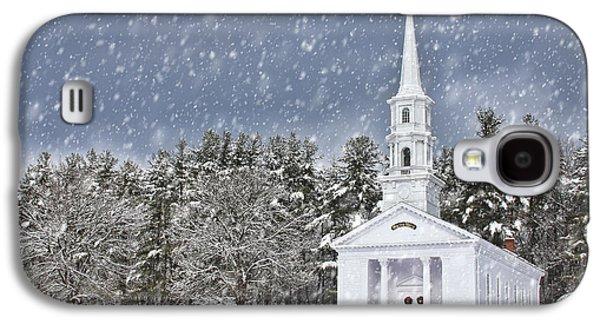 Sudbury Ma Galaxy S4 Cases - The Little Chapel in Winter Galaxy S4 Case by Jayne Carney