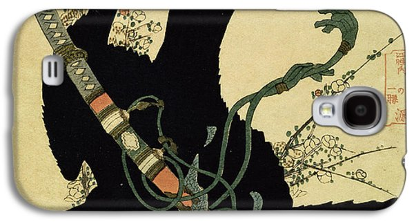 The Little Raven With The Minamoto Clan Sword Galaxy S4 Case by Katsushika Hokusai
