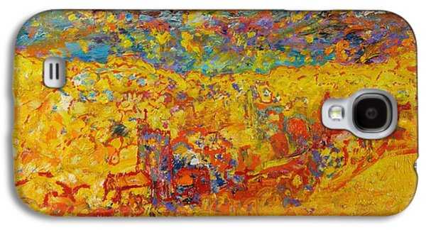 Abstract Landscape Galaxy S4 Cases - The Little Red Church Oil On Canvas Galaxy S4 Case by Brenda Brin Booker