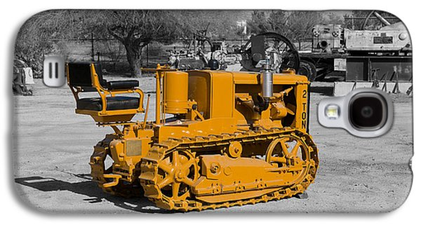 Machinery Galaxy S4 Cases - The Little Yellow tractor Galaxy S4 Case by Richard J Cassato