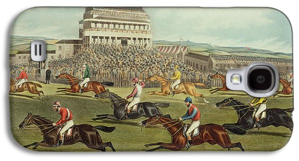 Jockeys Galaxy S4 Cases - The Liverpool Grand National Steeplechase Coming In Galaxy S4 Case by Charles Hunt and Son
