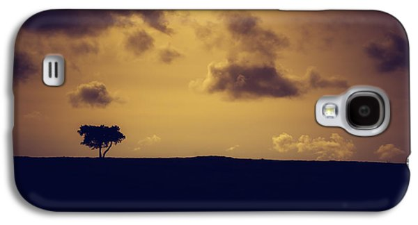 A Summer Evening Landscape Galaxy S4 Cases - The loneliness of a moorland tree Galaxy S4 Case by Chris Fletcher