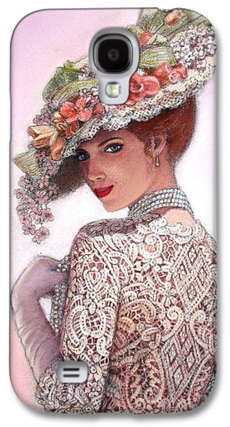 Portraits Pastels Galaxy S4 Cases - The Look of Love Galaxy S4 Case by Sue Halstenberg