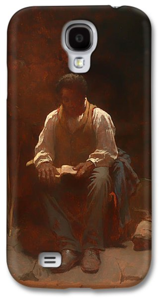 Slavery Paintings Galaxy S4 Cases - The Lord is My Shepherd Galaxy S4 Case by Eastman Johnson