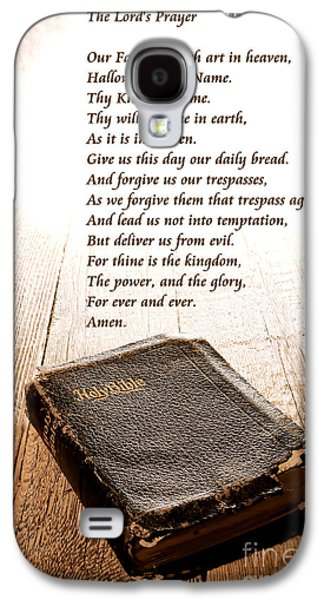 Bible Photographs Galaxy S4 Cases - The Lords Prayer and Bible Galaxy S4 Case by Olivier Le Queinec