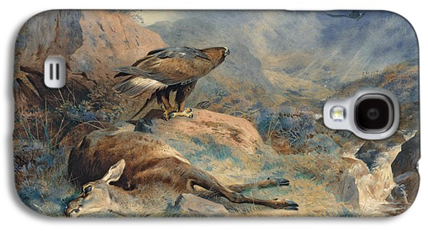 Eagle Paintings Galaxy S4 Cases - The Lost Hind Galaxy S4 Case by Archibald Thorburn