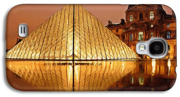 The Louvre By Night Galaxy S4 Case by Ayse Deniz