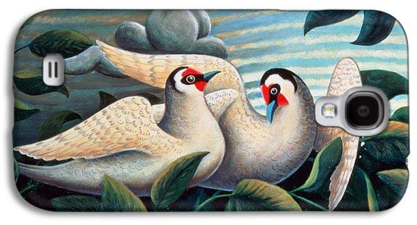 Court Galaxy S4 Cases - The Love Birds Galaxy S4 Case by Jerzy Marek