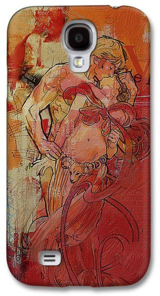 Astronomy Paintings Galaxy S4 Cases - The Lovers  Galaxy S4 Case by Corporate Art Task Force