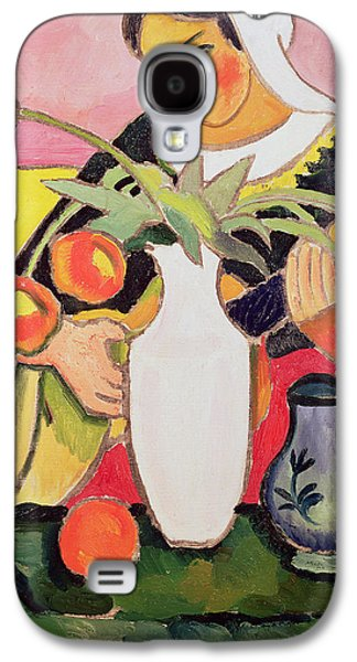 Lute Paintings Galaxy S4 Cases - The Lute Player Galaxy S4 Case by August Macke