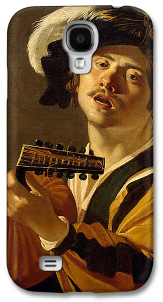 Lute Paintings Galaxy S4 Cases - The Lute Player Galaxy S4 Case by Dirck van Baburen
